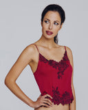 Couture fuchsia silk camisole from Merle Noir