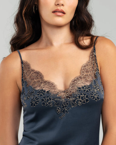 Paris Pinstriped Silk Chemise