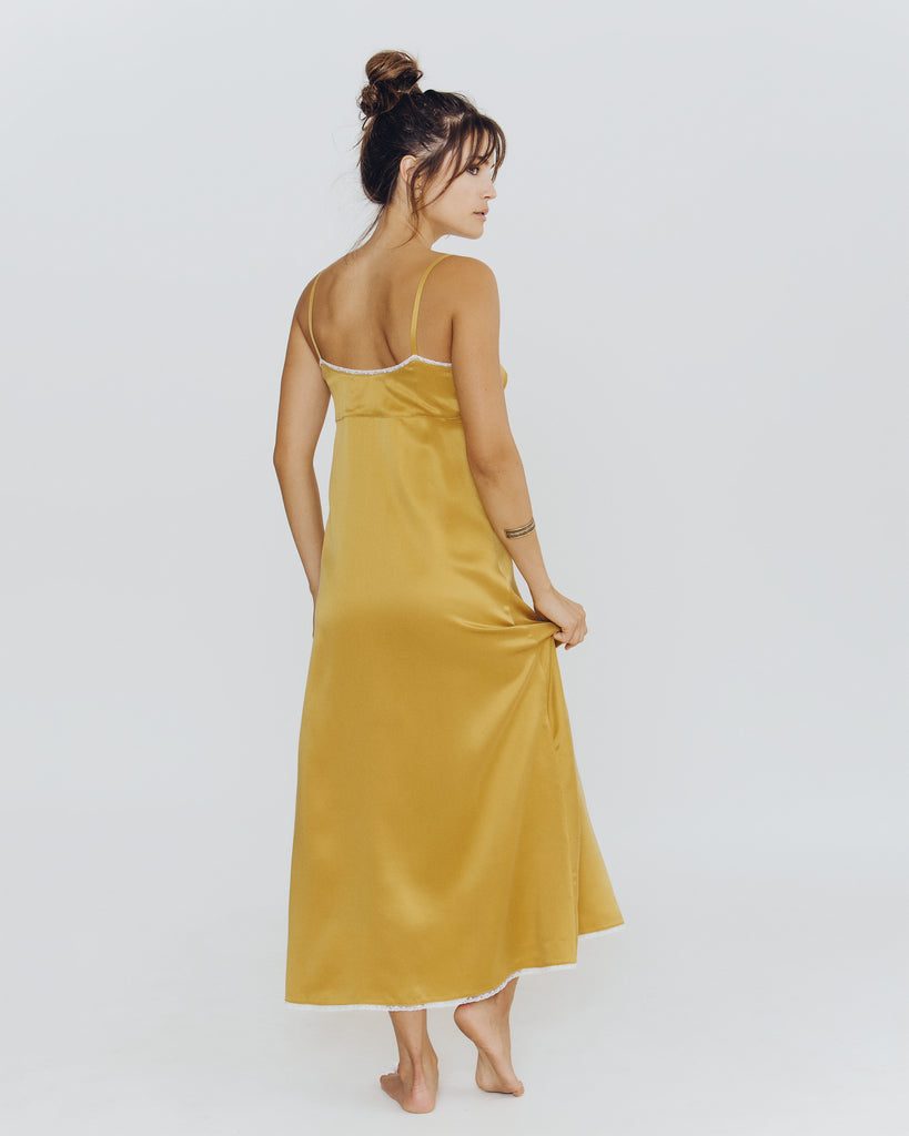 Chloe Gold Silk Gown