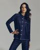 Mika Navy Cotton and Silk Pajama from Morpho + Luna