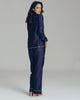 Mika Navy Cotton and Silk Pajama
