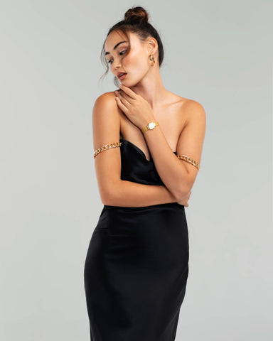 Saguaro Gold Bias Slip Dress