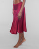 Vannina Vesperini's Burgundy Silk Skirt has a twirly a-line cut