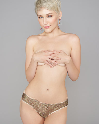 Gold Pearl Lingerie Set