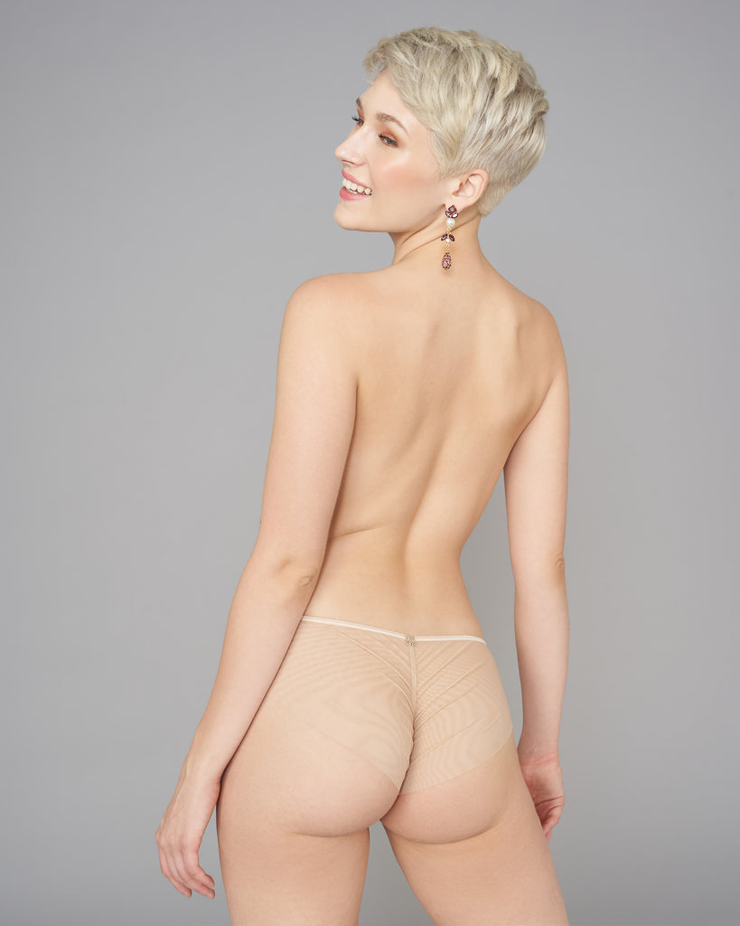 Vannina Vesperini's Opera panties have soft ivory elastic at the waistline and ruching at the rear for fit
