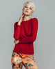 Classic crew-neck design from Zynni Cashmere has long fitted sleeves and a body-skimming cut