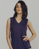 Superfine purple cashmere shell by Zynni is classic and wearable