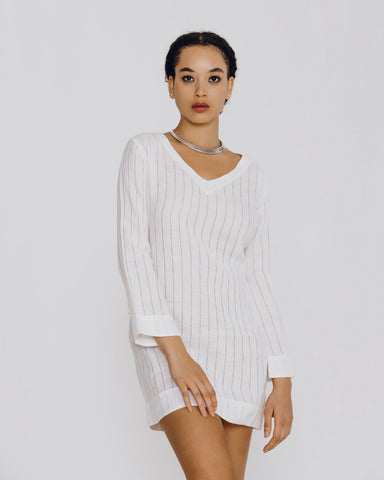 Beauté Macrame Long-Sleeved Bodysuit