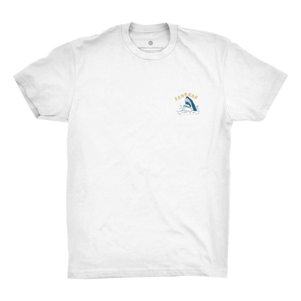 Sandbar Shark Breach White T-shirt