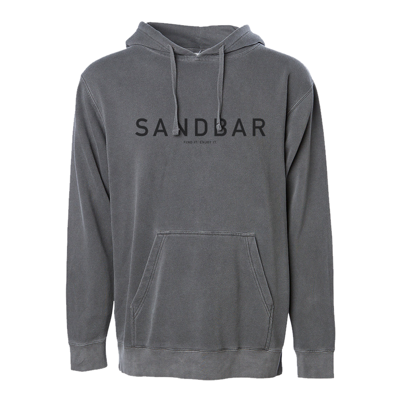 Washed-up Grey Surf Beach Distressed  Hoodie