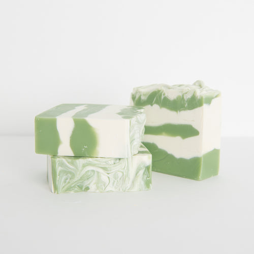 Spearmint essential oil handmade soap
