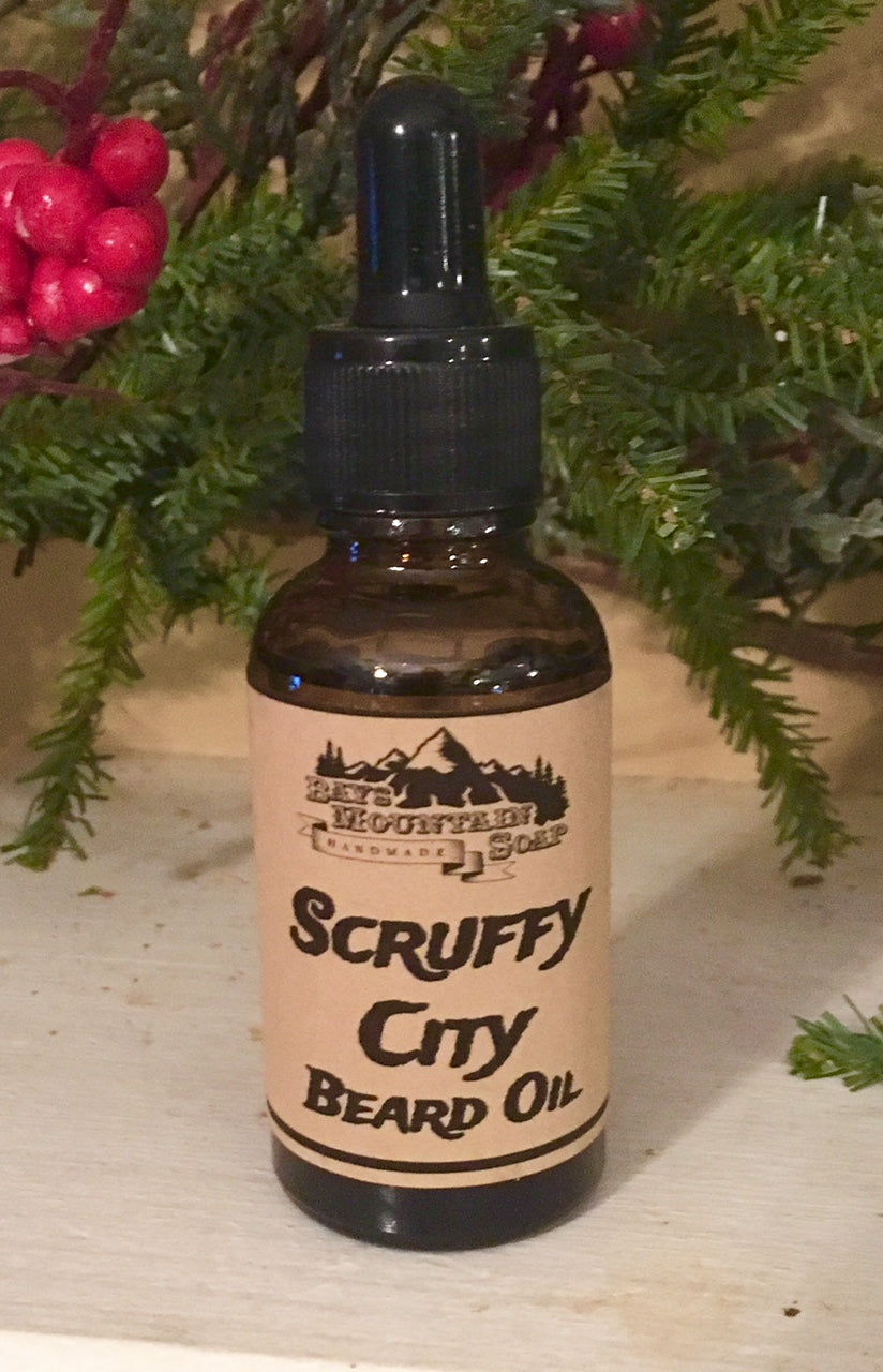 Natural beard oil Spearmint patchouli men's grooming shaving jojoba