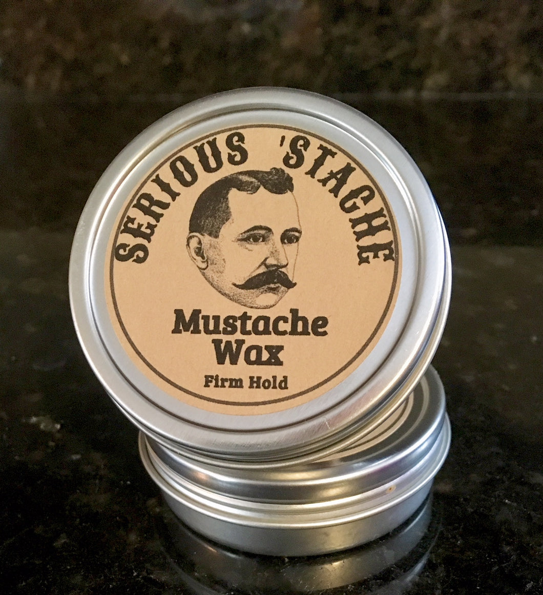 natural mustache wax firm hold 1.5 oz. men's grooming