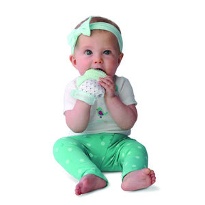 Munch Mitt - Mint Green - Triangles Munch Mitt Malarkey Kids