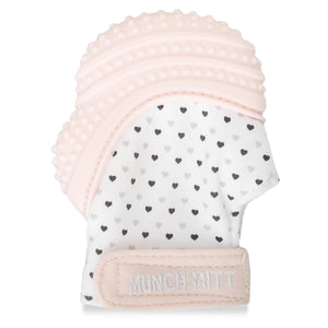 Munch Mitt - Pastel Pink - Hearts Munch Mitt Malarkey Kids