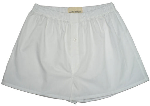 White Organic Cotton Poplin Boxer