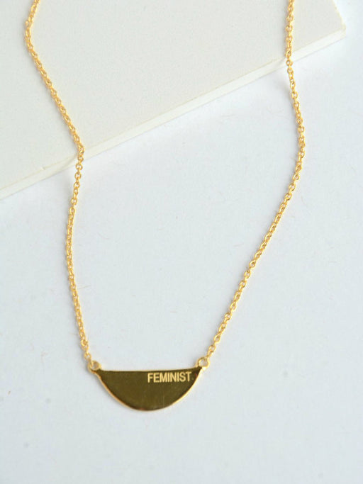 Fair Feminist Necklace - 14k Gold - Femme Fatale