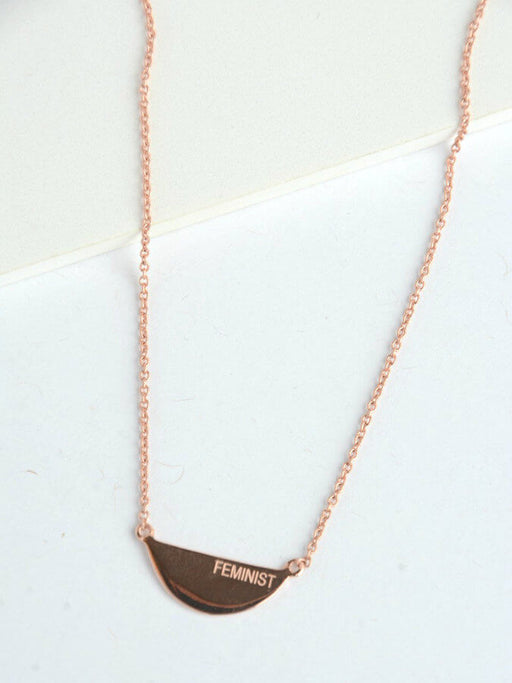 Fair Feminist Necklace - Rose Gold