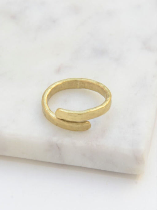 Twisted Vine Ring - Brass