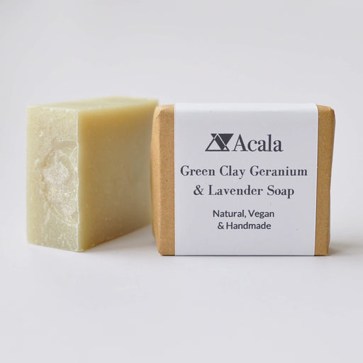 Green Clay Geranium and Lavender Soap
