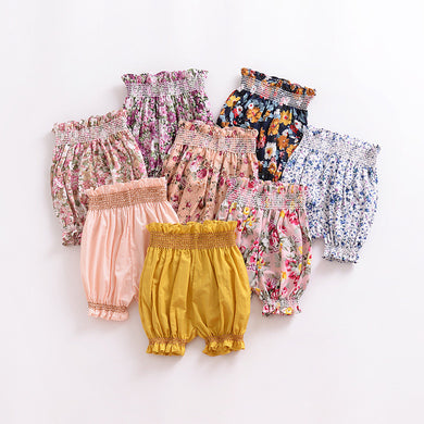 7556eda05 New Cute Ruffles Bloomers 2018 Summer Floral Printed Girls Shorts Newborn  Baby Girl Clothes Infant Toddler