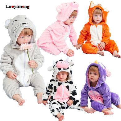ad1075581 Cute Animal Hooded Baby Rompers For Babies Boys Girls Clothes Newborn  Clothing Toddler Jumpsuit Infant Costume