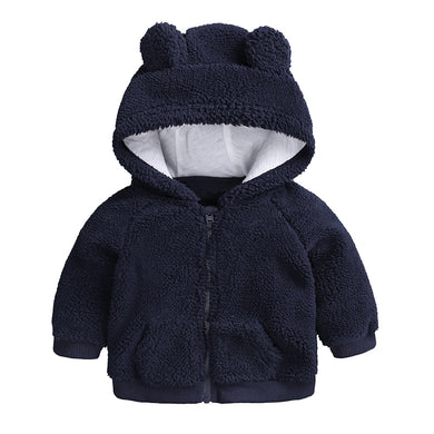 d53bf9b75 newborn baby clothes Autumn Winter warm Hooded jacket&Coat for 3-18M  toddler baby boy girls