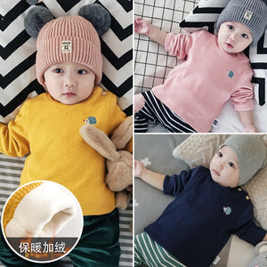 14437d9c Lemonmiyu Children Winter Thick Tops 1st Baby Boys Long Sleeve T Shirts for  Kids Cartoon Warm Newborn Jackets Girls Clothes