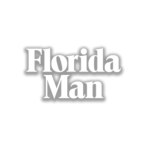 "8"" Florida Man Window Decal"