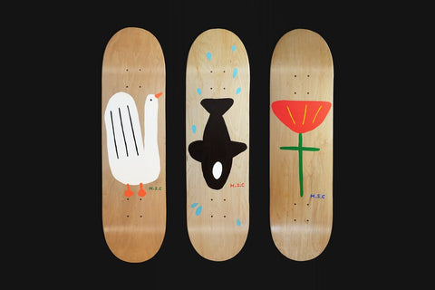 Hand Painted Skateboard Deck