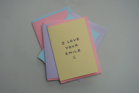 'I Love Your Smile' Shit Valentine's Card