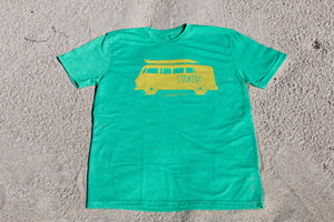Green Stoked Van Kids Tee