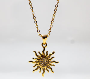 SUNDANCE- Gold Sun Necklace