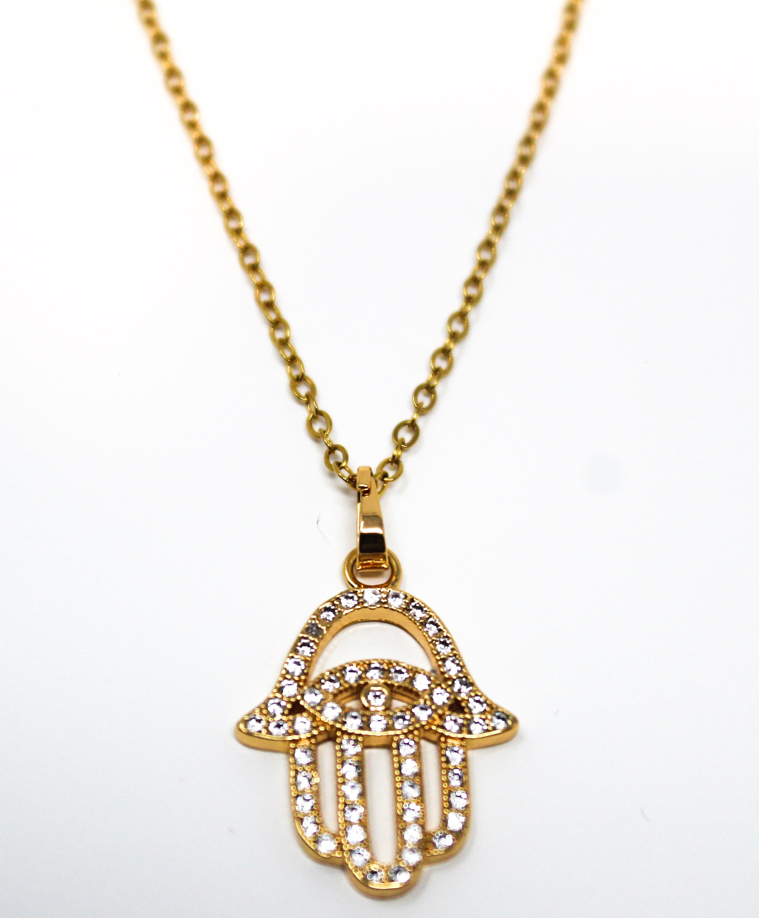FATIMA- Gold Hamsa Necklace