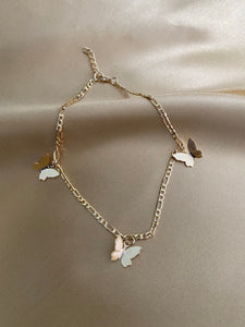 FREEDOM- Gold Butterfly Anklet