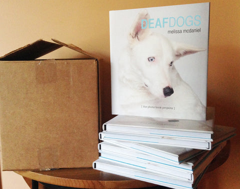 **$50 SPECIAL**: 1 Box of DEAF DOGS Books: 8 copies of the Deaf Dogs photo book