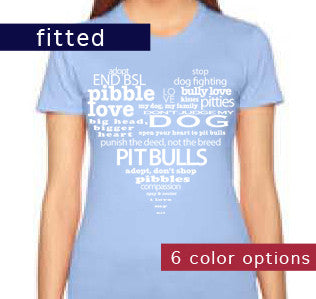 Pit Bull Heart T-Shirt - Women's Fitted T-Shirt (6 color options available)