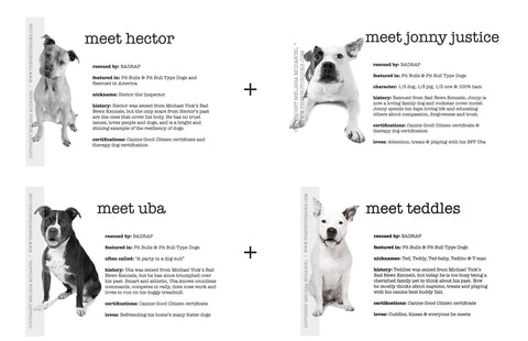 Print Pack: Meet the Dogs series (Vick dogs) - Limited Edition Prints (4 prints)