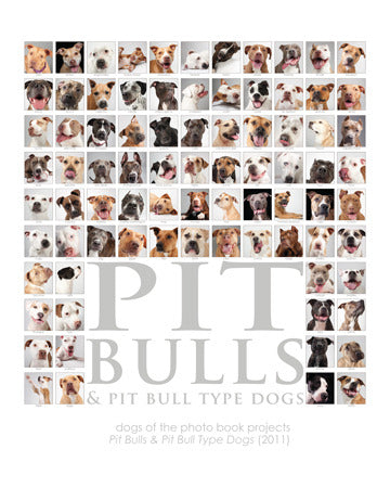 Pit Bulls Collage Print - 16x20 (color or B&W)