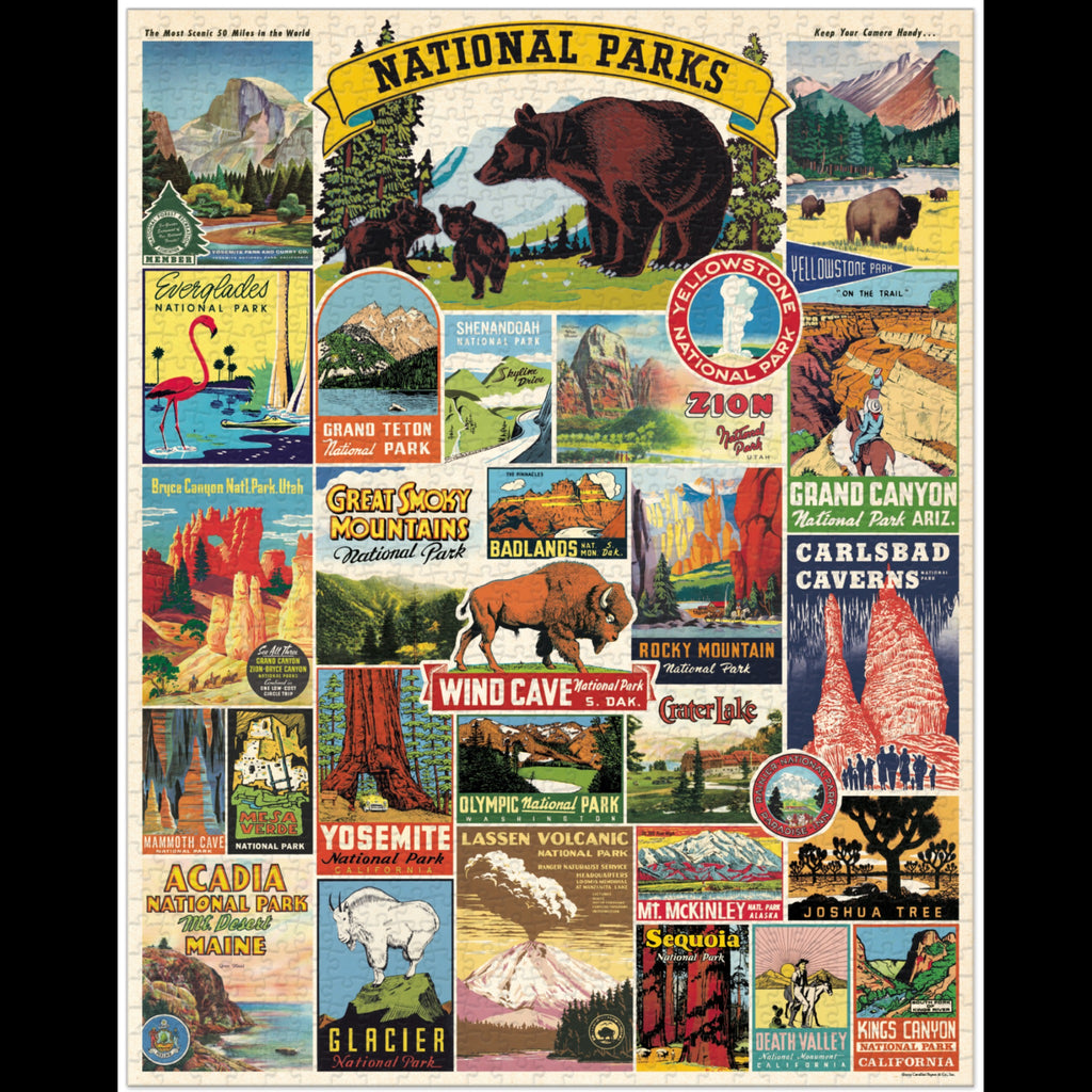 1000 piece national parks jigsaw puzzle detail