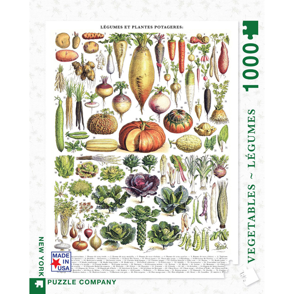 1000 Piece Vegetables - Legumes Jigsaw Puzzle