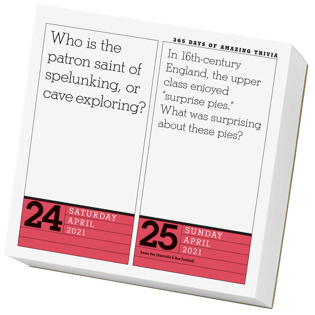 sample page of 365 days of trivia page a day calendar