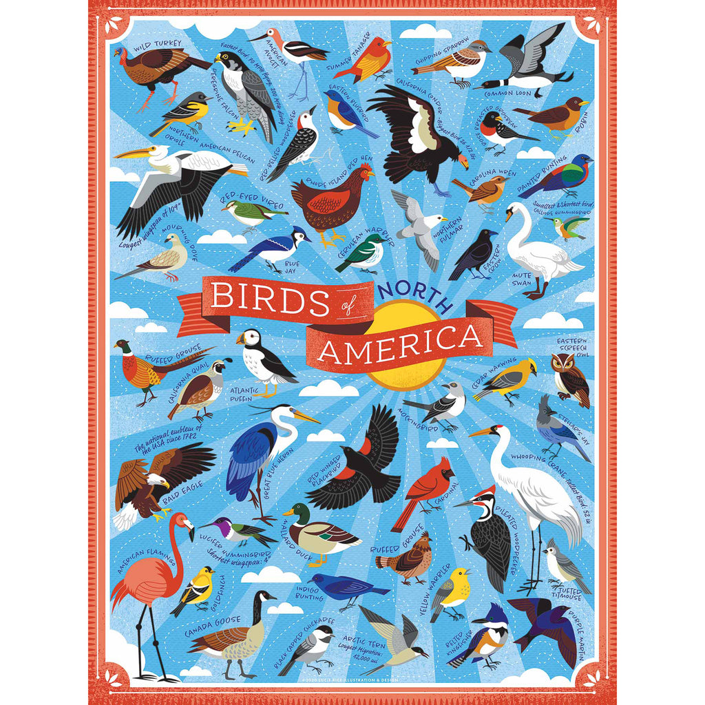 500 Piece Birds of North America Jigsaw Puzzle
