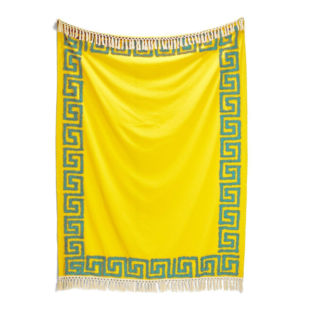 Meandros Tufted Greek Key Pattern Throw