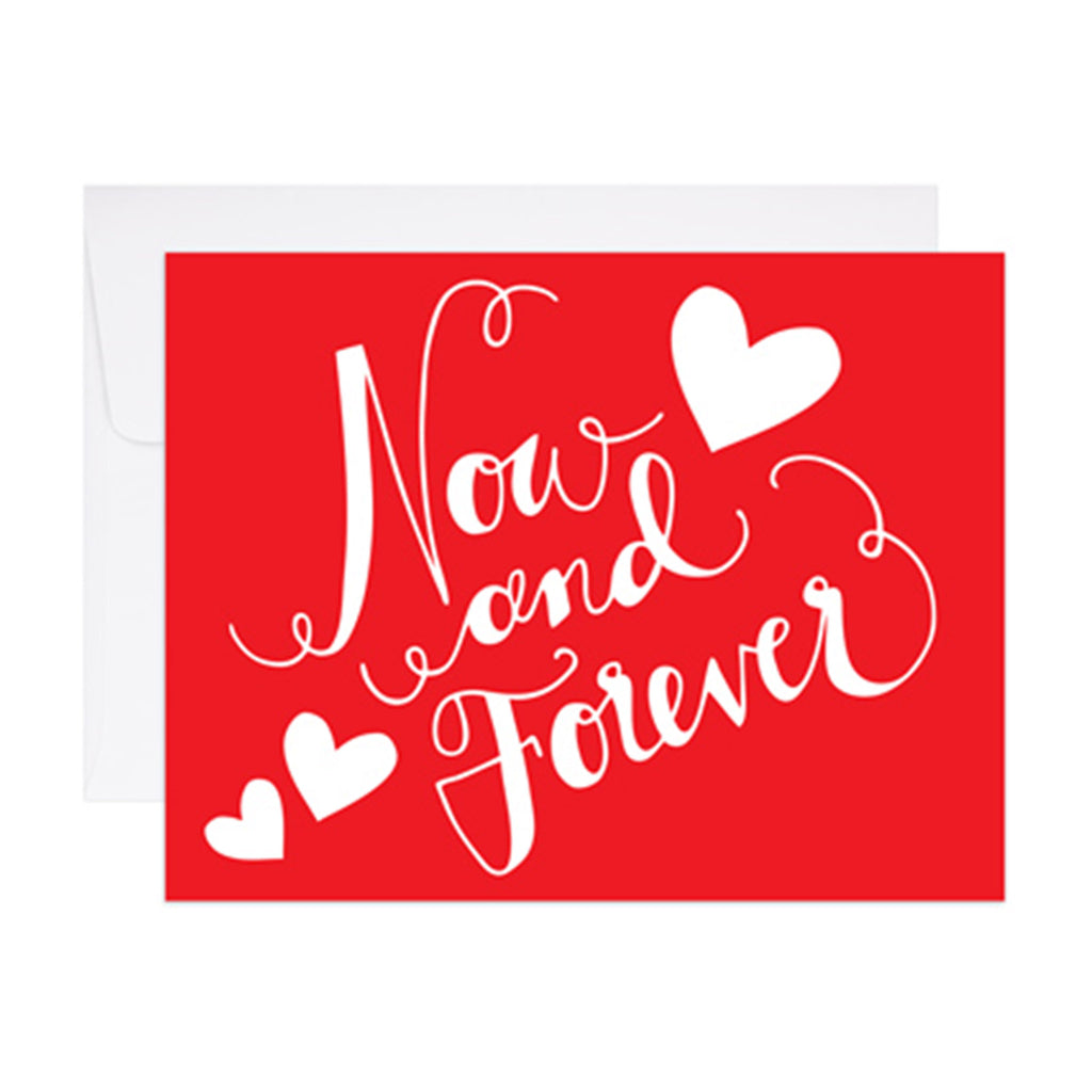 9th letterpress now and forever valentine's day greeting card with envelope