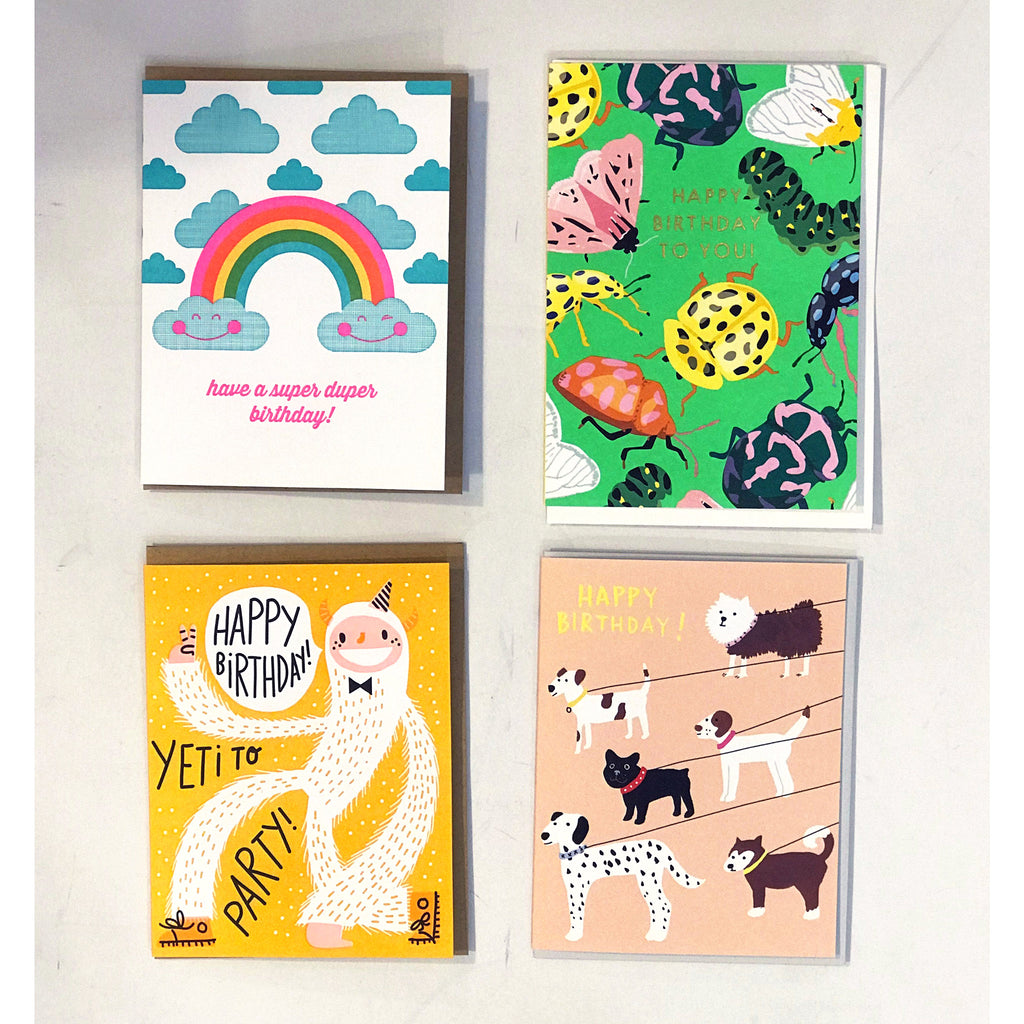 annies blue ribbon general store set of four happy birthday greeting cards option 2