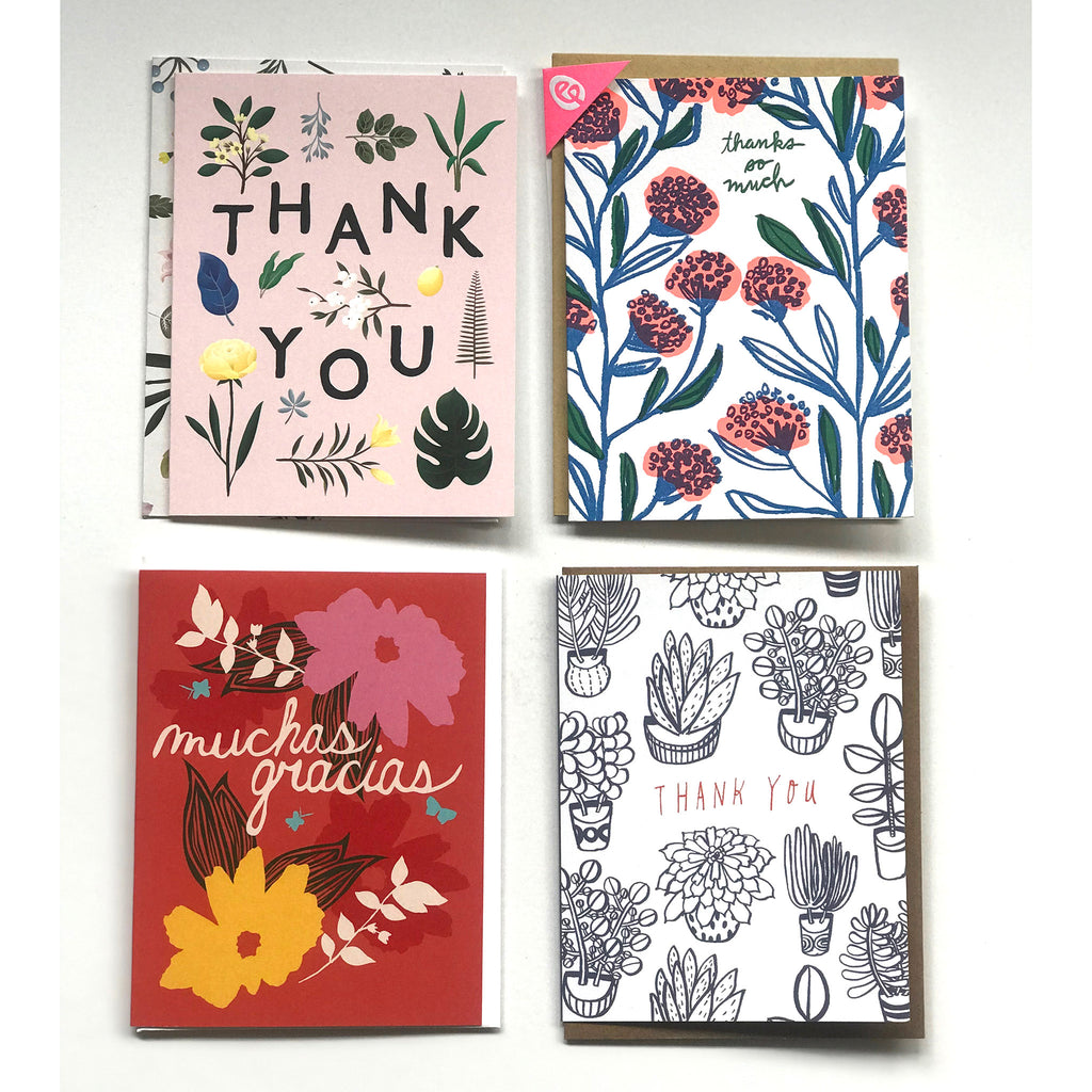 annies blue ribbon general store set of four thank you greeting cards option 1