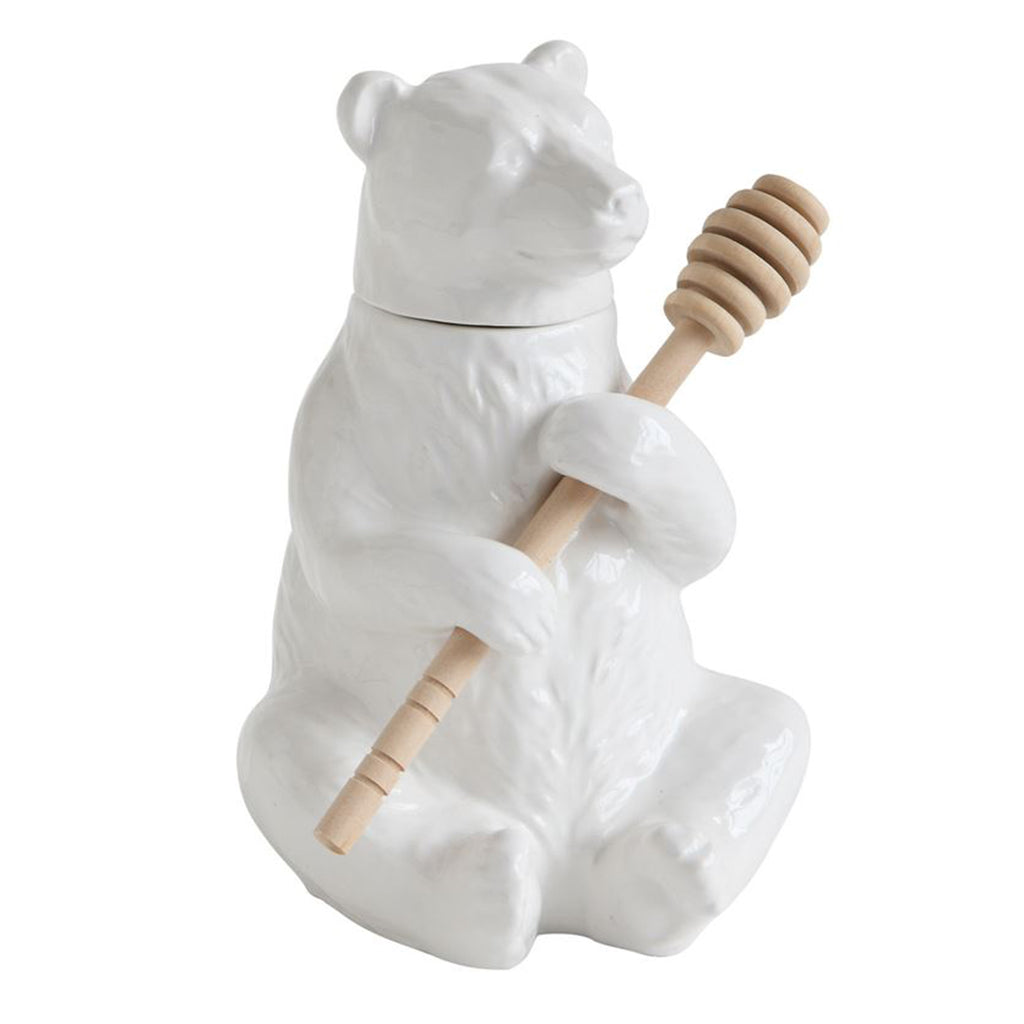 ceramic bear honey pot