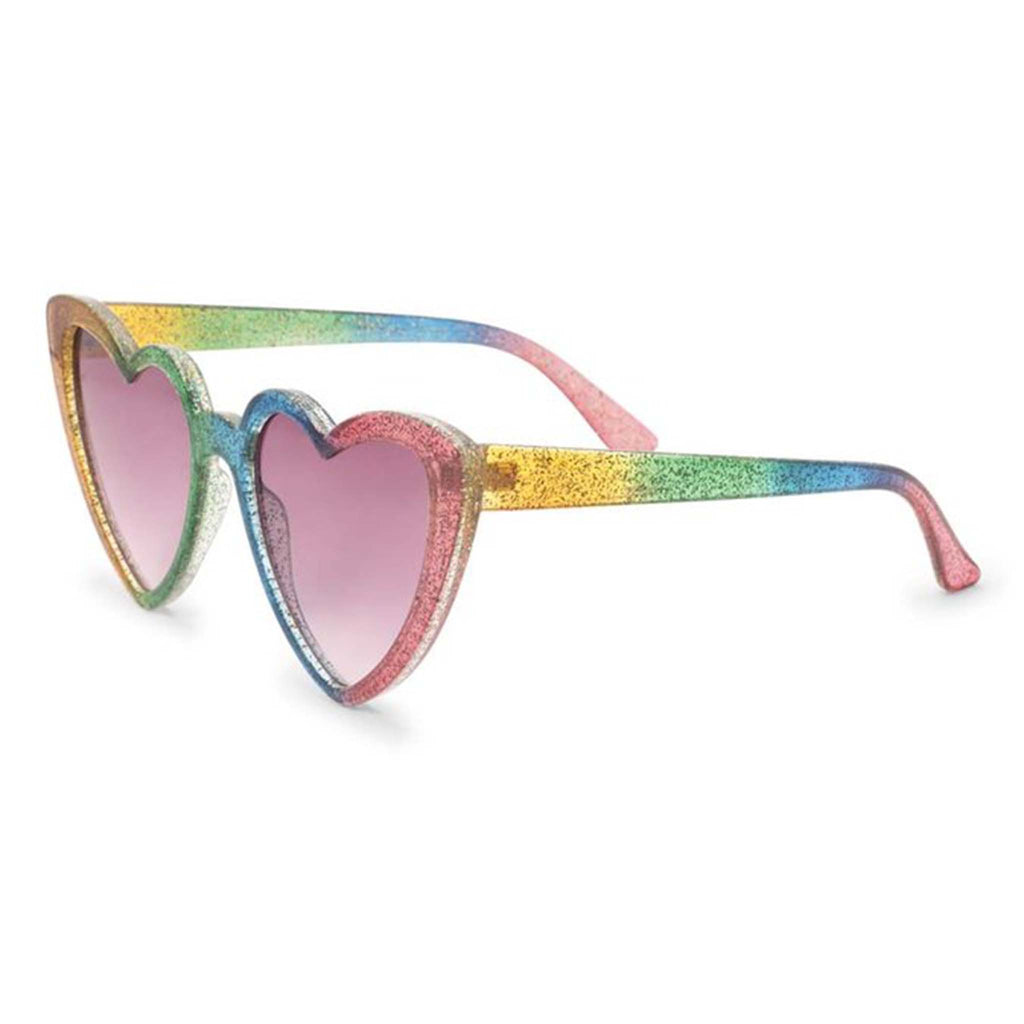rainbow heart sunglasses side