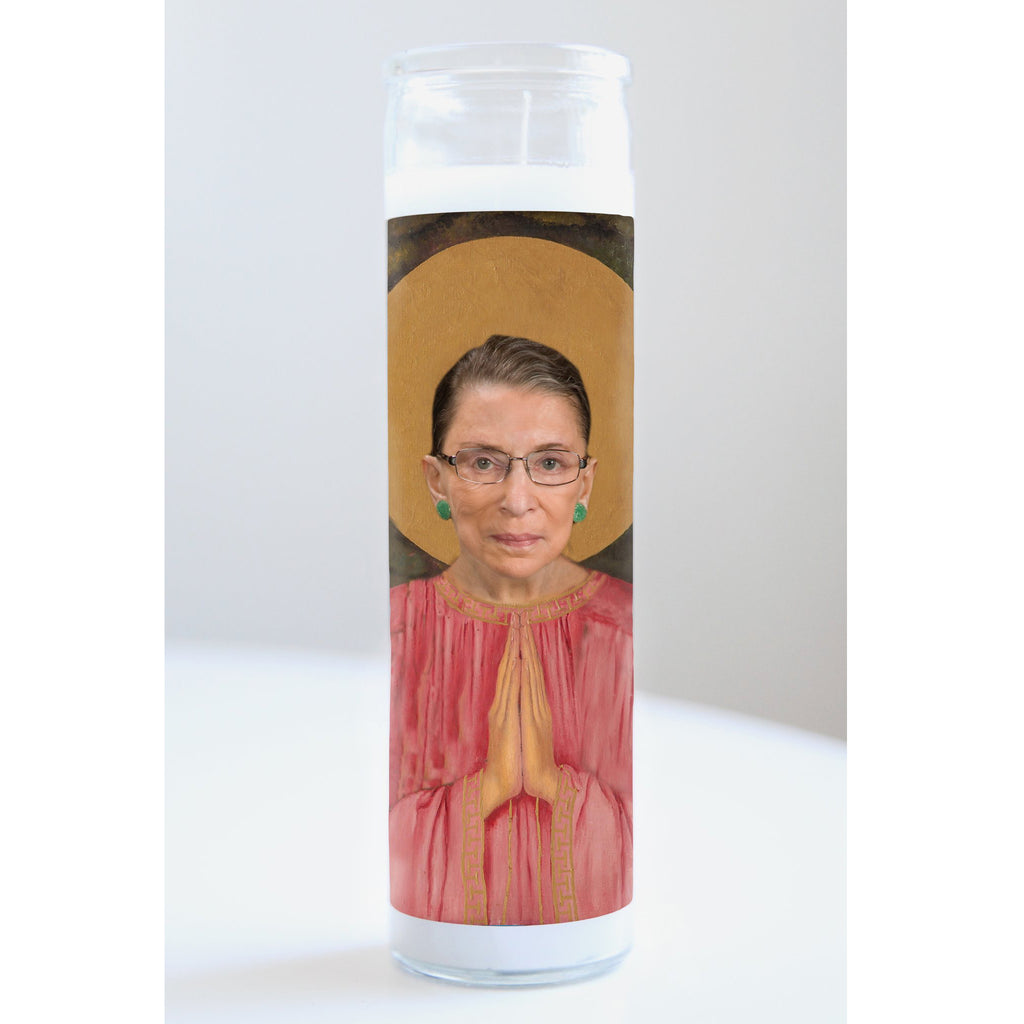 saint ruth bader ginsburg illuminidol celebrity prayer candle